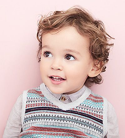 Boy in Marie-Chantal knitted vest