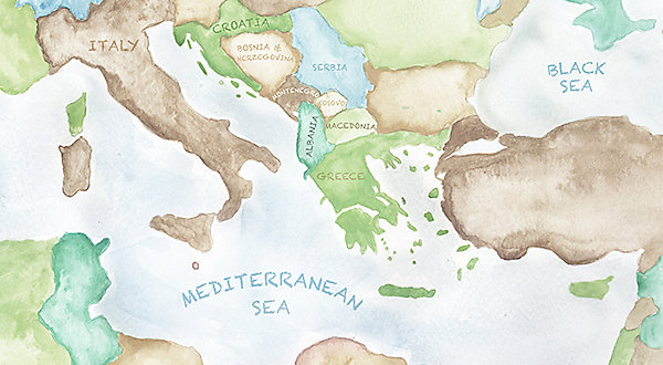 Map of the Med