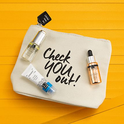 The Hero Project skin-care minis on a yellow background