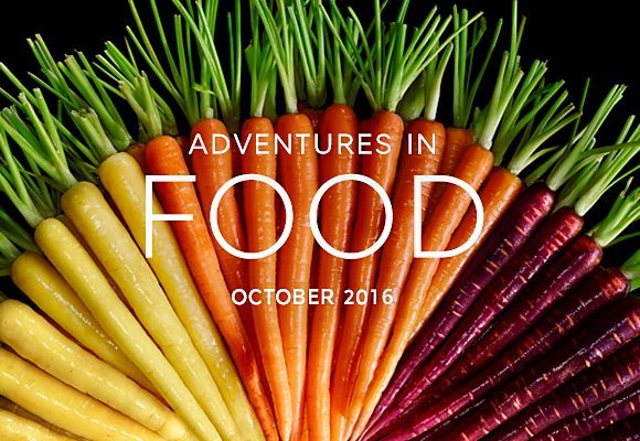 October's seasonal selections from Adventures in Food