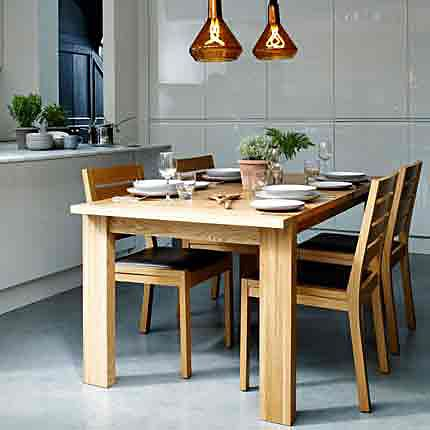 Sonoma wooden extending dining table