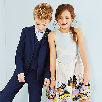 Girl and boy in party clothes