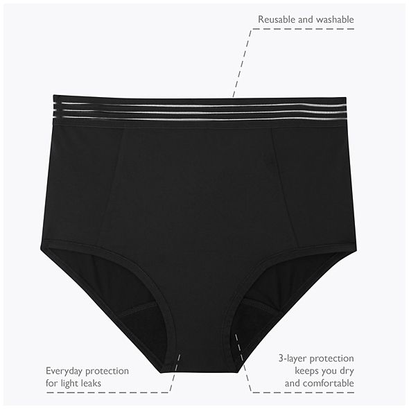 Black high-waisted Confidence knickers