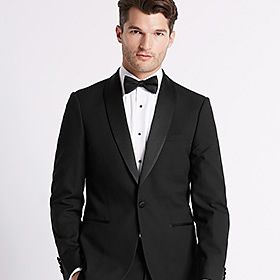 Man wearing dinner suit and black tie