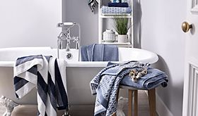 Towels in a bathroom