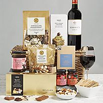 Food gifts from a hamper