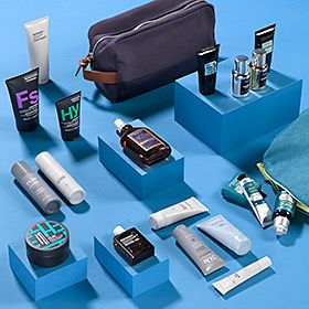 Various men's grooming products and gifts