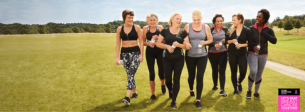 Women walking together wearing fitness clothing