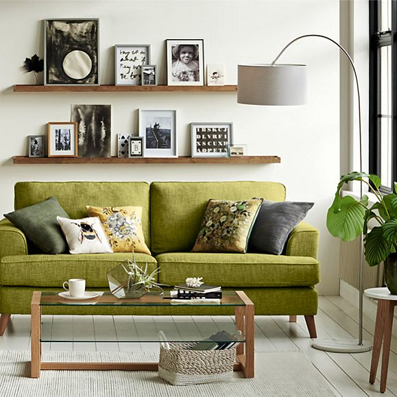 Floor lamp with living room furniture