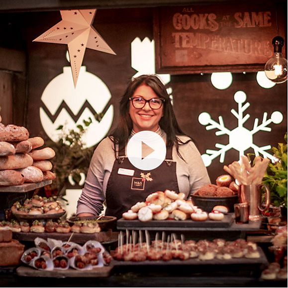 April Preston, head of product development, at the M&S Christmas food market