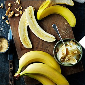 Sliced and whole bananas