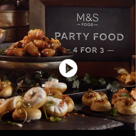 Party food at the M&S Food Christmas market