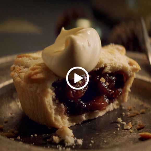 Mince pies and sticky toffee Christmas pudding at the M&S Food Christmas market