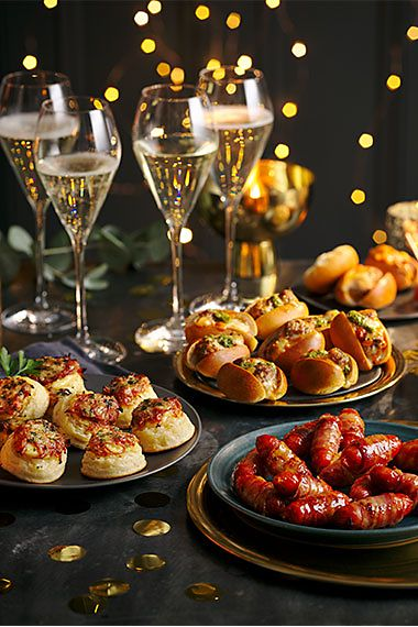 Spanish pigs in blankets, ham hock crumpets and meatball subs