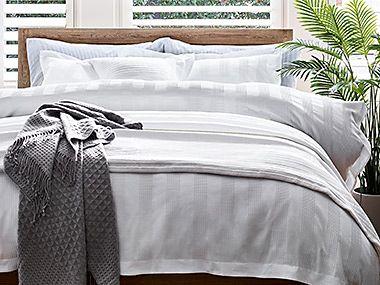 Plain white bedding