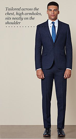 Man wearing modern tailored suit