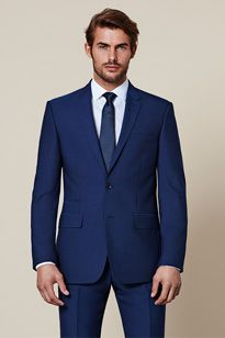 Tailored fit mens suit
