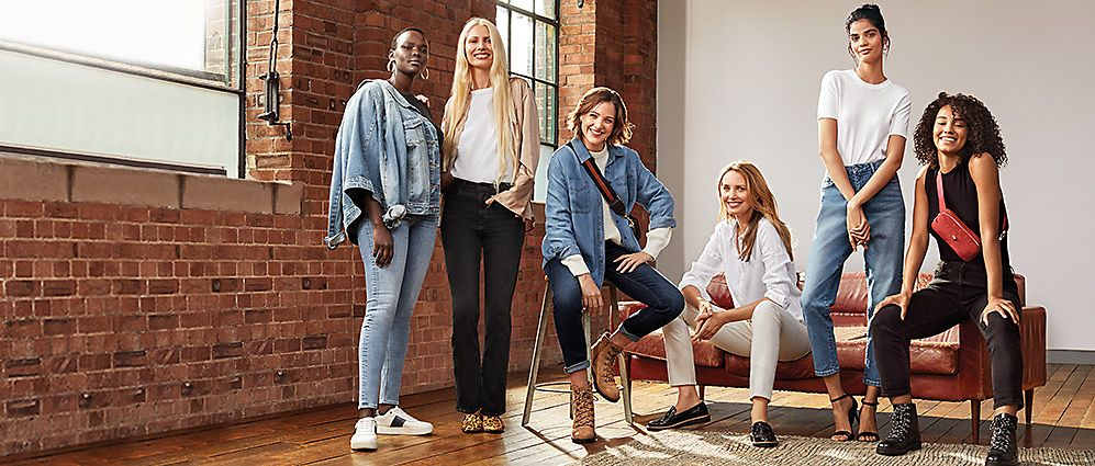 Women wearing M&S denim