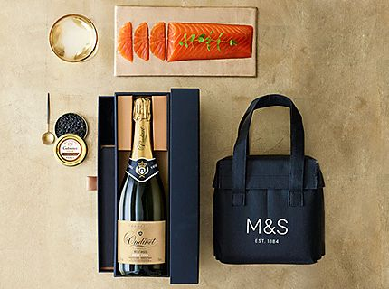 Champagne, smoked salmon and caviar