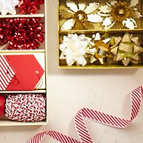 Christmas ribbons and accessories