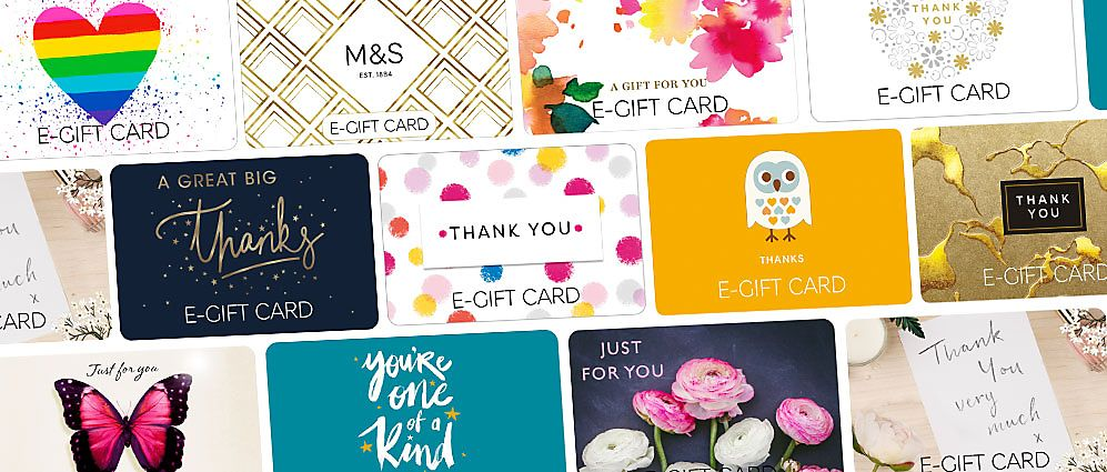 Selection of e-gift cards