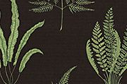 Woodland Fern, black†** – 49% linen, 38% cotton, 13% polymide