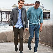 Men wearing casual trousers