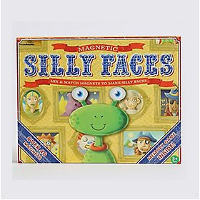 Kids toy, box of magnetic silly faces
