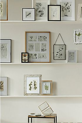 Picture frames on a desk