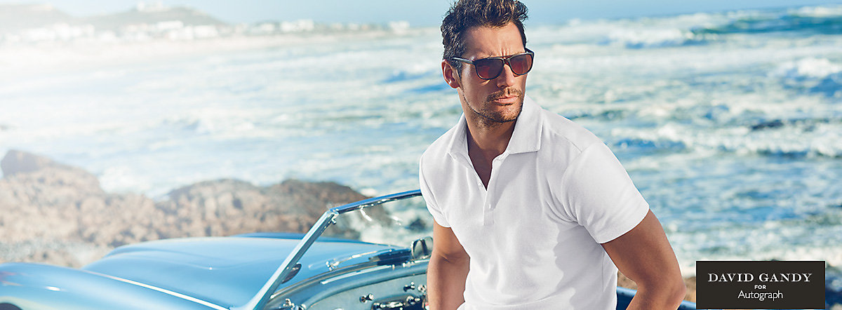 David Gandy on the beach