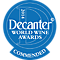 Decanter World Wine Awards Commended 2014