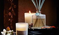 Christmas candles and reed diffusers