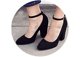 Block heel shoe
