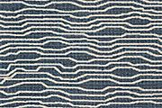 Silines Weave, blue† – 62% cotton, 38% polyester