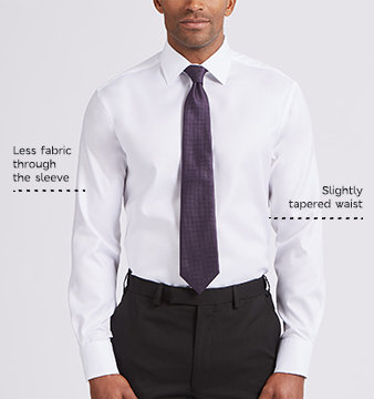 Illustration of mens tailored fit shirt