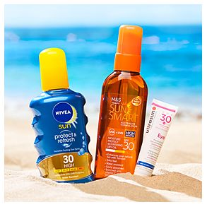 Group image of Sun Smart, Ultrasun and Nivea sun cream