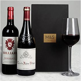 Red wine gift box