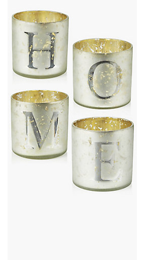 Alphabet candle holders