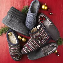 Men's slippers and slipper boots
