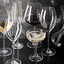 Wine glasses and champagne saucers