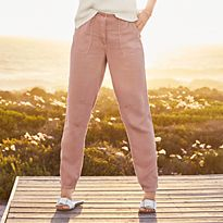 Woman in pink trousers