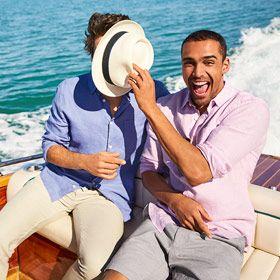 Men wearing summer casual shirts