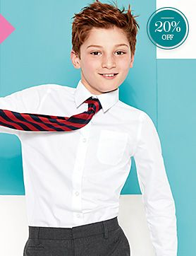 Boy in shirt and tie