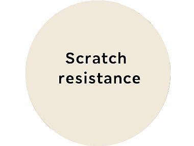 Scratch resistance roundel