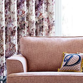 Curtains in a living room