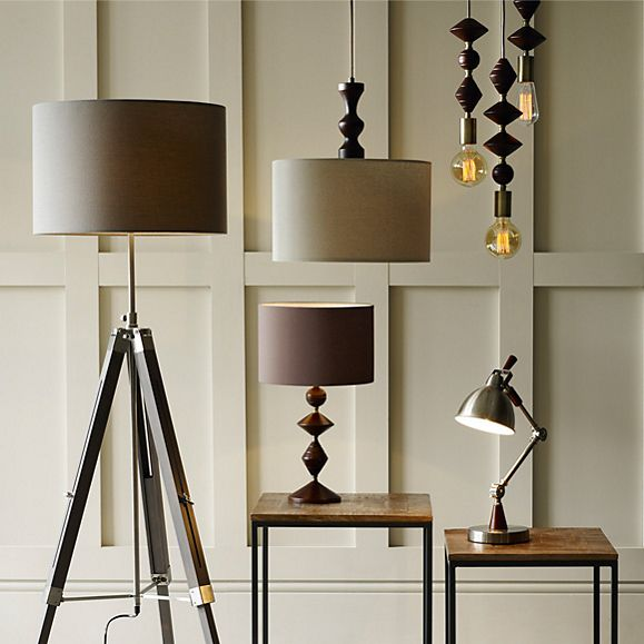 Our mixed collection of white ceramic lamps