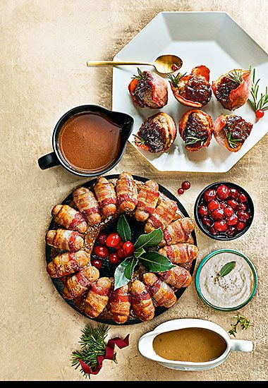 The Collection British outdoor-bred pork, sage and onion stuffing bacon cups