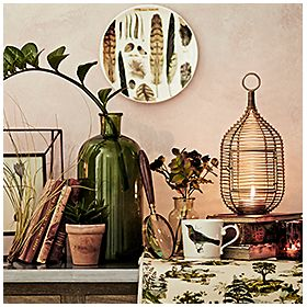 Home accessories with a botanical theme