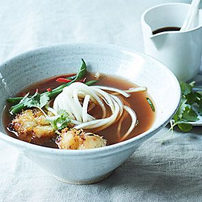 Healthy Thai-style fish noodle soup recipe