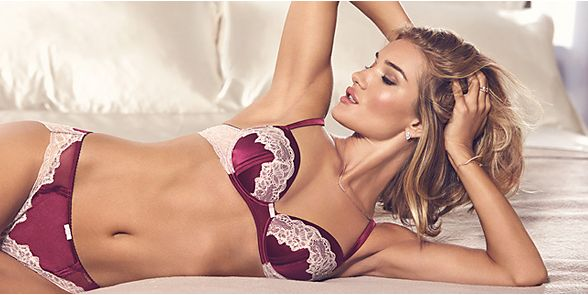 Rosie Huntington-Whiteley in lingerie set